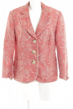 Gerry Weber Jerseyblazer lachs-hellgrau florales Muster Business-Look