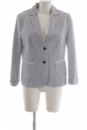 Gerry Weber Jersey Blazer white-dark blue striped pattern sailor style