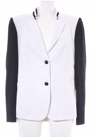 Gerry Weber Blazer in jersey bianco-nero stile professionale