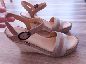 Gerry Weber Wedge Sandals gold-colored-beige