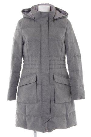 Gerry Weber Manteau à capuche gris-gris clair moucheté style décontracté