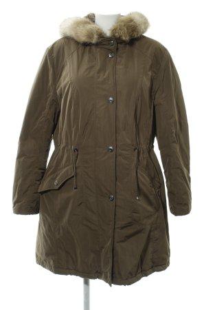 Gerry Weber Manteau à capuche kaki-gris vert style décontracté