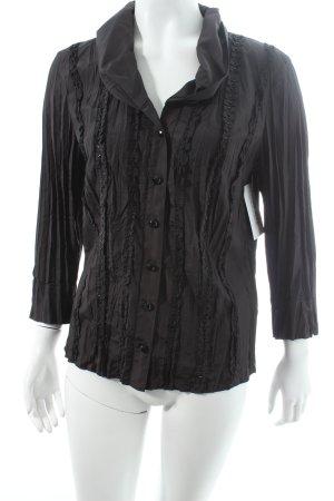 Gerry Weber Kimono-Bluse schwarz schlichter Stil
