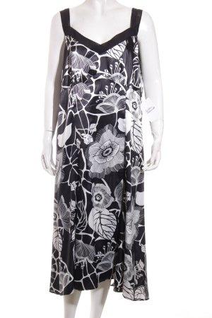 Gerry Weber Kleid schwarz-weiß florales Muster Beach-Look