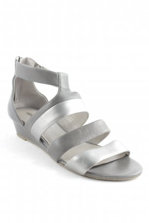 Gerry Weber Sandalias cómodas marrón grisáceo-color plata look casual