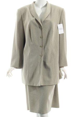Gerry Weber Kostüm graubraun meliert klassischer Stil