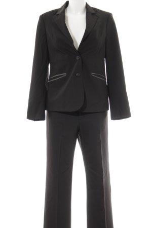 Gerry Weber Tailleur nero-grigio scuro motivo a righe stile professionale
