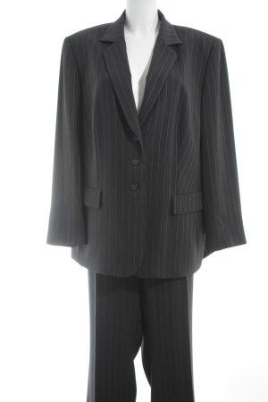 Gerry Weber Tailleur taupe-blanc motif rayé style d'affaires