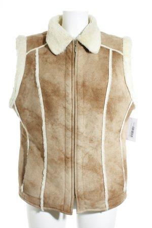 Gerry Weber Vest van imitatiebont lichtbruin casual uitstraling