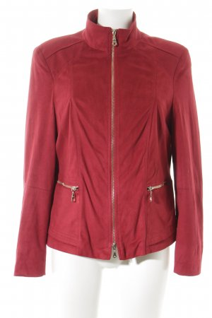 Gerry Weber Giacca in ecopelle rosso scuro stile classico