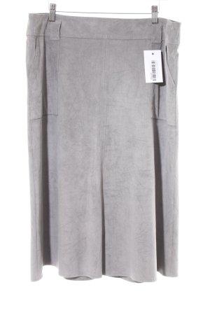 Gerry Weber Jupe en cuir synthétique gris clair-gris style décontracté