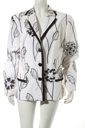 Gerry Weber Kurz-Blazer schwarz-weiß Blumenmuster Street-Fashion-Look