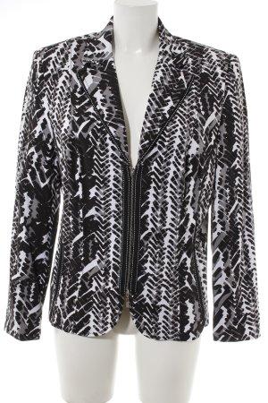 Gerry Weber Kurz-Blazer weiß-schwarz abstraktes Muster schlichter Stil