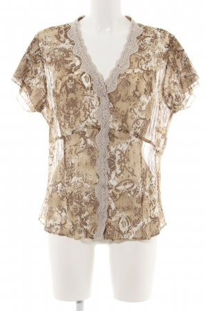 Gerry Weber Kurzarm-Bluse abstraktes Muster Casual-Look