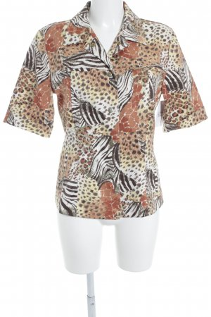 Gerry Weber Kurzarm-Bluse Leomuster Casual-Look