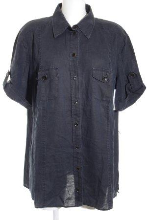 Gerry Weber Kurzarmhemd dunkelblau Casual-Look