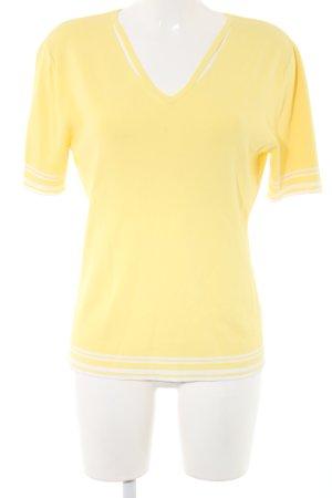 Gerry Weber Jersey de manga corta amarillo pálido-blanco estampado a rayas