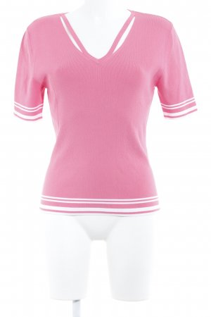 Gerry Weber Kurzarmpullover pink-weiß Casual-Look