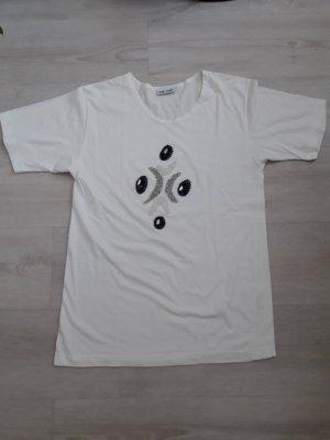 Gerry Weber: Kurzarmshirt mit Perlen Motiv Größe 40
