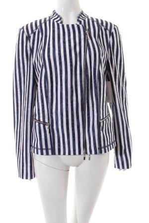 Gerry Weber Kurzjacke dunkelblau-weiß Streifenmuster Elegant