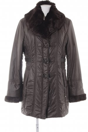 Gerry Weber Short Coat grey-black brown wet-look