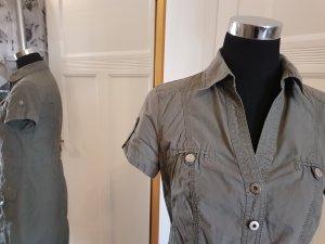 Gerry Weber: lässiges Hemdblusenkleid auf Figur geschnitten, Gr. 38