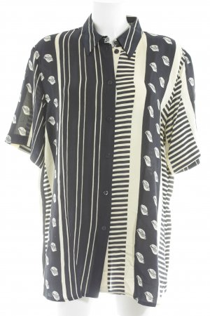 Gerry Weber Long Sleeve Blouse yellow-dark blue striped pattern simple style