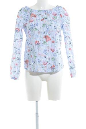 Gerry Weber Camicetta a maniche lunghe azzurro-bianco motivo floreale