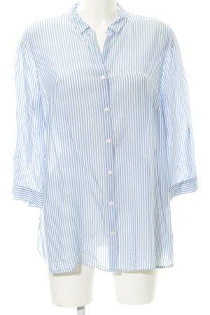 Gerry Weber Langarm-Bluse himmelblau-weiß Streifenmuster Elegant
