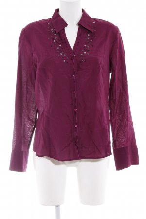 Gerry Weber Langarm-Bluse purpur Glitzer-Optik
