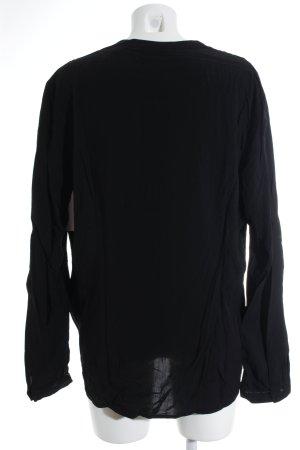 Gerry Weber Langarm-Bluse schwarz Casual-Look