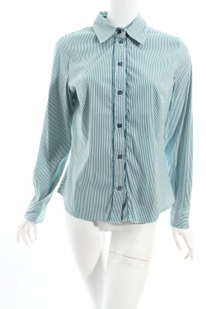 Gerry Weber Langarm-Bluse waldgrün-weiß Streifenmuster Business-Look