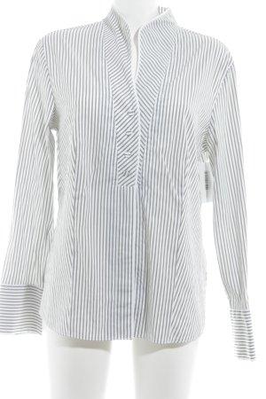 Gerry Weber Langarm-Bluse weiß-schwarz Streifenmuster Business-Look