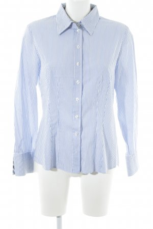 Gerry Weber Camisa de manga larga blanco-azul aciano estampado a rayas