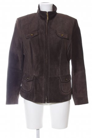 Gerry Weber Lederjacke braun Business-Look