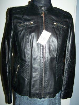 GERRY WEBER Lederjacke in Biker-Style, NEU, Gr. 42, Sale - 50%