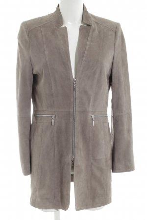 Gerry Weber Cappotto in pelle bianco sporco stile casual