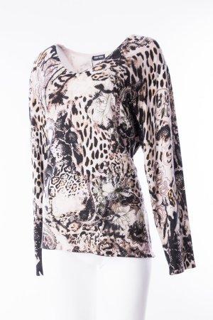 GERRY WEBER - Leichter Pullover mit Animalprint Beige