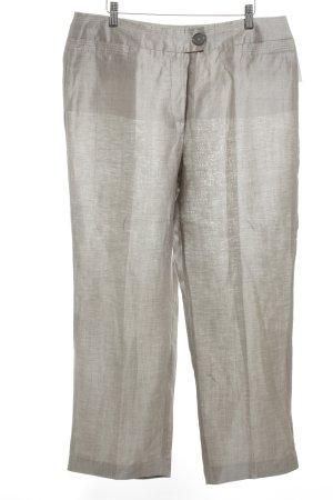 Gerry Weber Leinenhose graubraun schlichter Stil