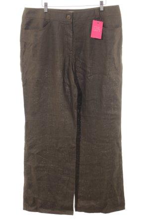 Gerry Weber Pantalón de lino gris verdoso estilo sencillo