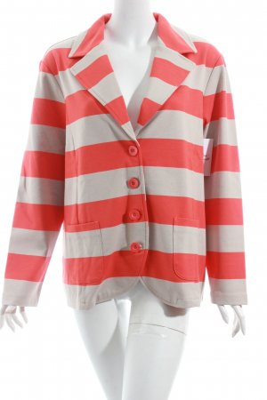 Gerry Weber Long-Blazer beige-orange Streifenmuster Street-Fashion-Look