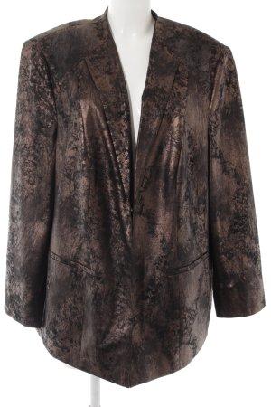 Gerry Weber Long-Blazer bronzefarben-schwarz Business-Look