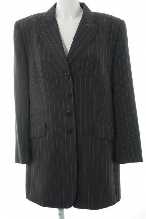 Gerry Weber Blazer lungo grigio-bianco sporco motivo a righe stile professionale