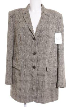 Gerry Weber Long-Blazer graubraun-braun Karomuster Business-Look