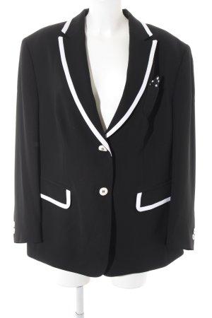 Gerry Weber Long-Blazer schwarz-weiß extravaganter Stil