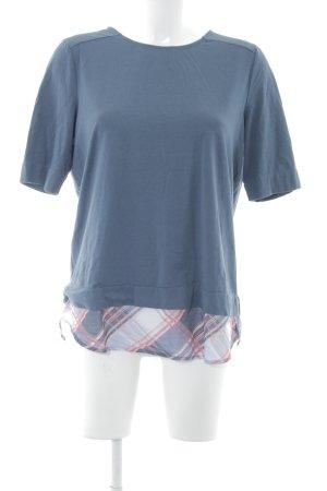 Gerry Weber Longshirt graublau Karomuster Street-Fashion-Look