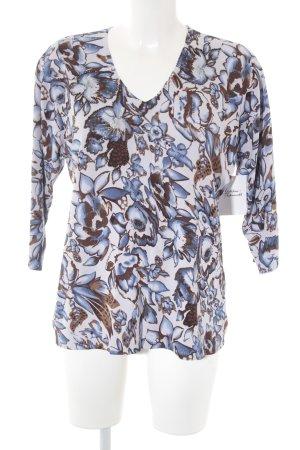 Gerry Weber Longsleeve dunkelblau-braun florales Muster Casual-Look