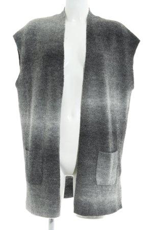 Gerry Weber Lang gebreid vest lichtgrijs-grijs casual uitstraling