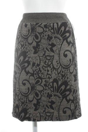 Gerry Weber Midirock graubraun-schwarz Blumenmuster Elegant
