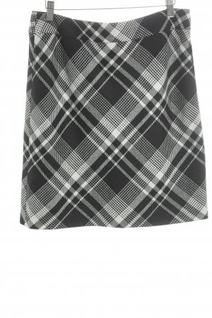 Gerry Weber Mini-jupe noir-blanc motif à carreaux style décontracté